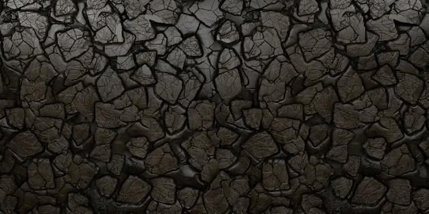 Texture de mur en pierre noire