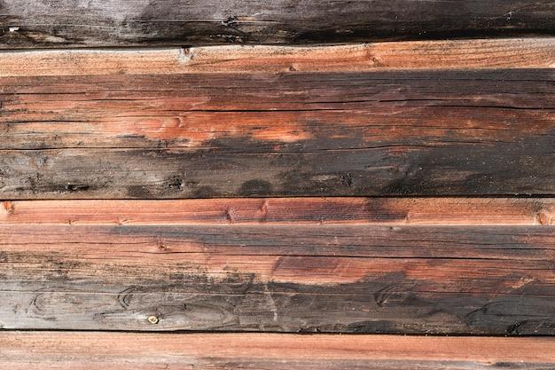 Texture de mur de planche de bois brun, à utiliser comme arrière-plan naturel.