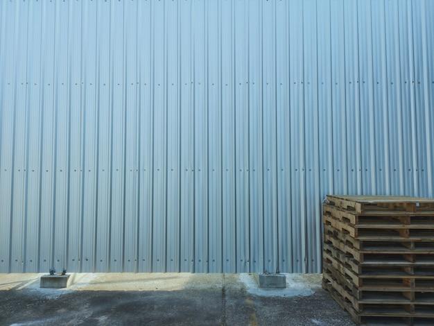 Texture de mur en tôle