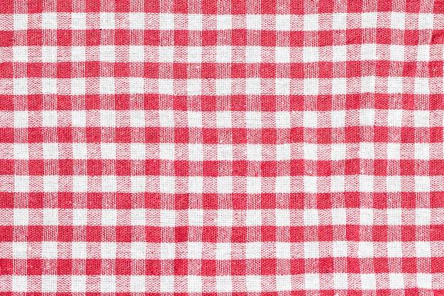 La texture de la nappe à carreaux
