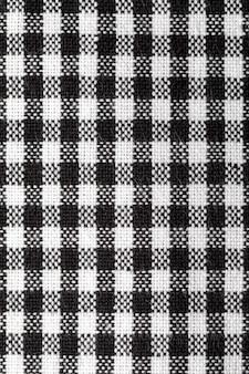 Texture de nappe vichy. espace de copie texture de nappe vichy en gros plan. espace de copie texture de nappe vichy en gros plan. noir et blanc. copiez l'espace.
