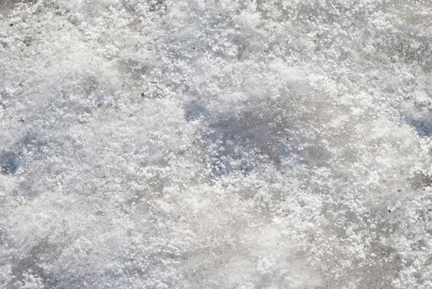 La texture de la neige blanche peut être utilisée pour le fond.