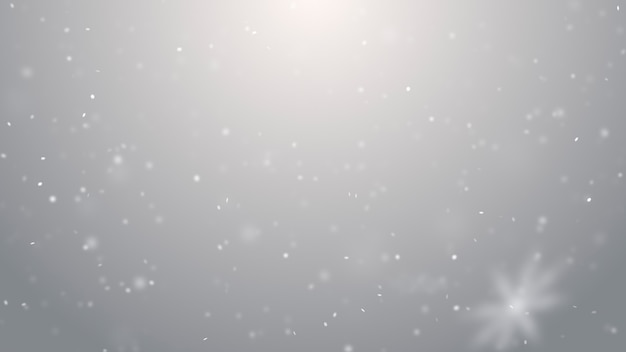 Texture de neige qui tombe. lumières brouillées d'hiver blanc et argent fumé sur fond de bokeh