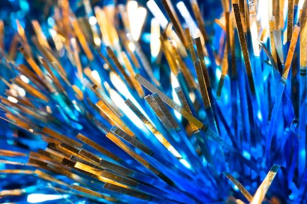 Texture de noël bleu clinquant brillant