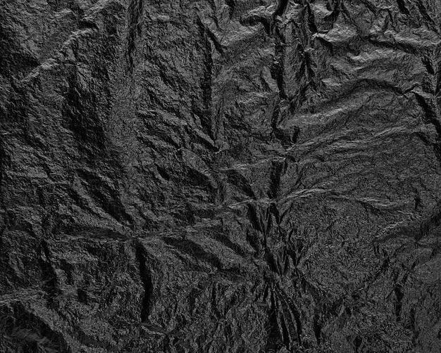 Texture noire fond en relief froissé