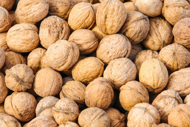 Texture de noix en coque
