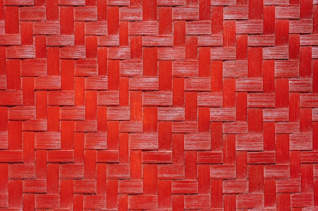 Texture en osier de bambou rouge.
