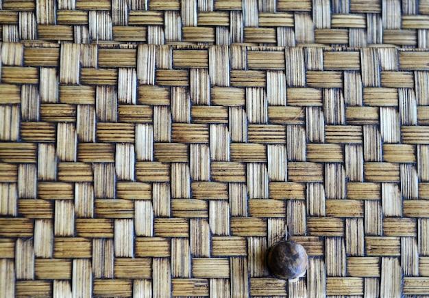 Texture en osier brun comme toile de fond