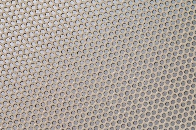 Texture en osier de grille en métal gris
