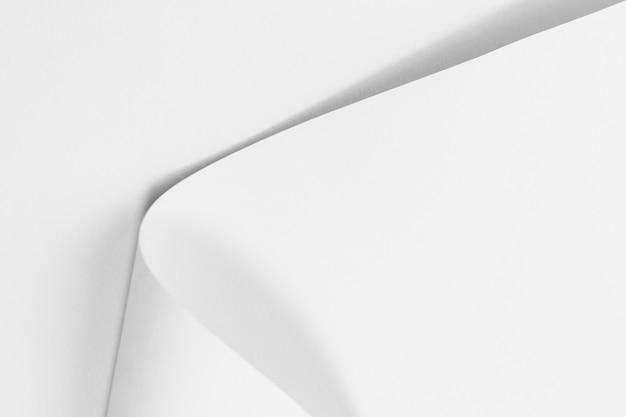 Texture de page blanche recourbée de papier