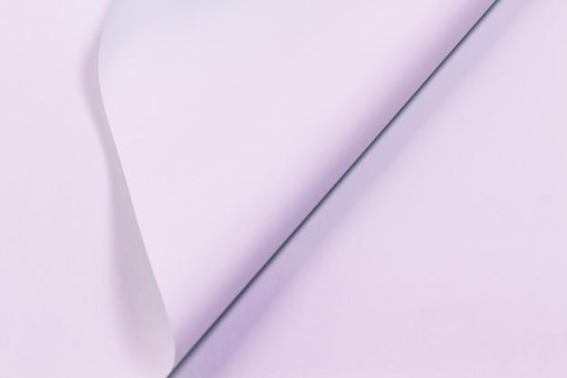 Texture de page violette papier recourbé