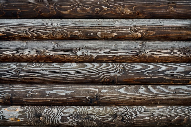 Texture de palettes en bois marron.