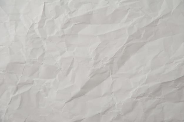 Texture de papier blanc froissé