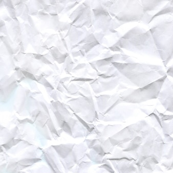 Texture de papier froissé blanc.