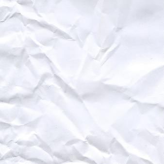 Texture de papier froissé blanc