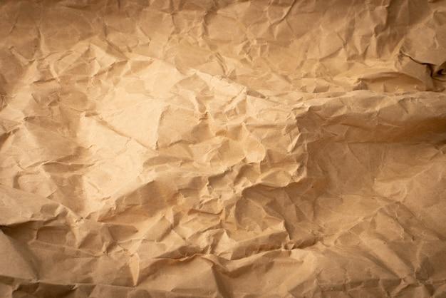Texture de papier kraft froissé