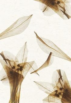 Texture de papier à la main de pétale de fleur