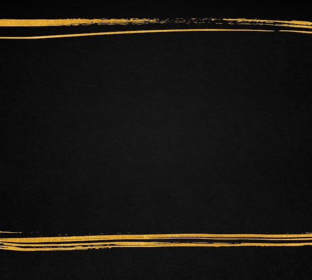 Texture de papier noir avec des lignes dorées dessinées à la main. fond sombre avec fond.