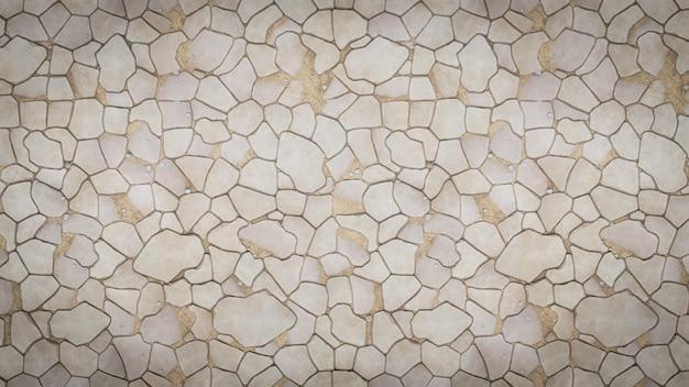 Texture de la passerelle pavée de pierre
