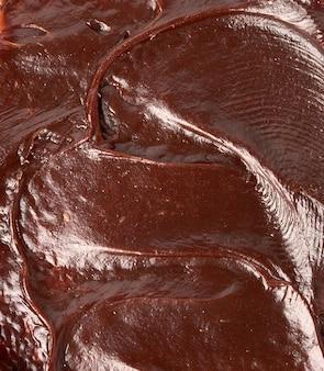 Texture de pâte au chocolat, ingrédient sandwich délicieux et nutritif