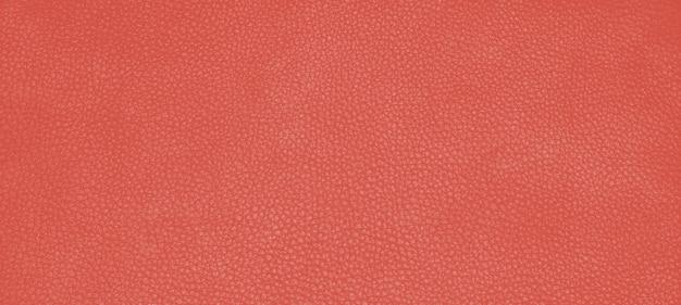 Texture de peau en cuir véritable couleur orange fiesta.