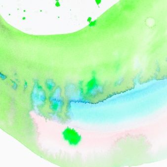 Texture de peinture aquarelle abstraite main vert et bleu