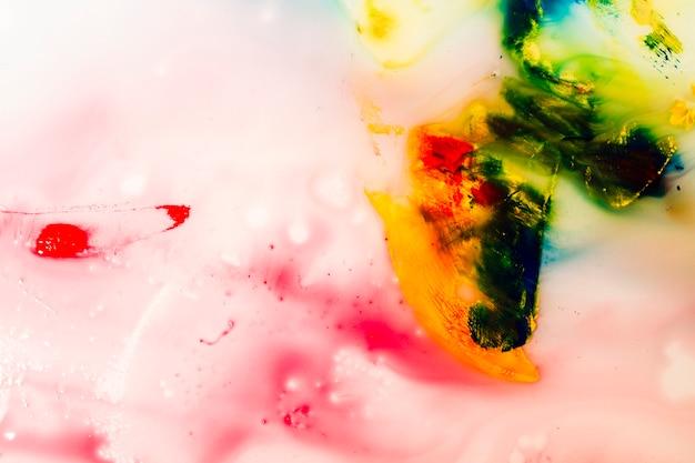 Texture de peinture à l'eau colorée abstraite