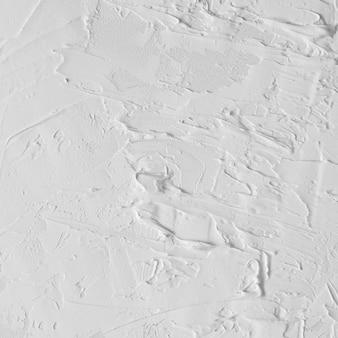 Texture de peinture à l'huile abstraite blanche sur toile ou mur.