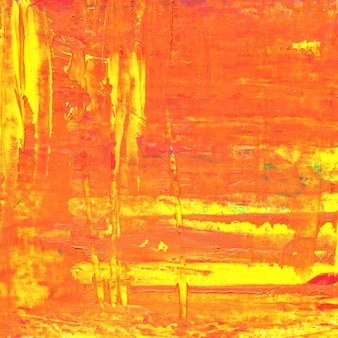 Texture de peinture à l'huile orange avec des coups de pinceau. abstrait