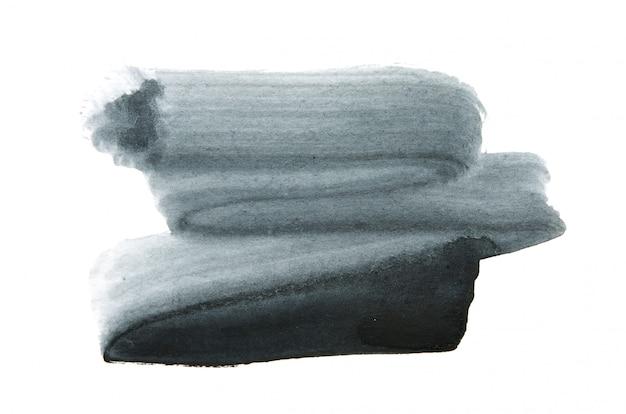Texture de peinture à la main aquarelle abstraite, isolée.