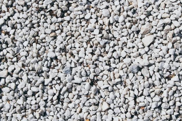 Texture de petites pierres blanches