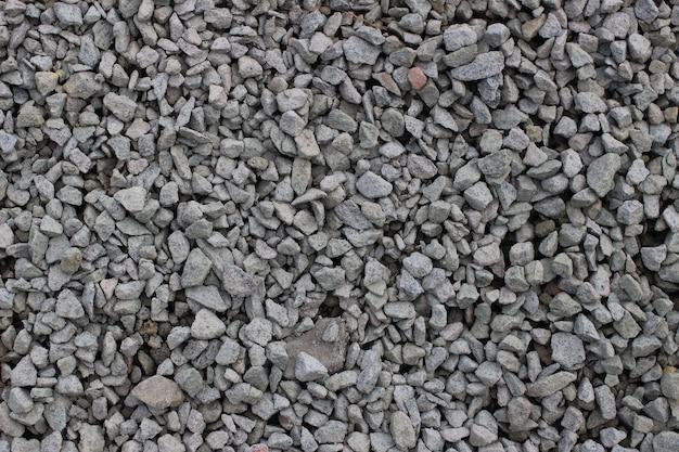 La texture de la pierre concassée est en gros plan