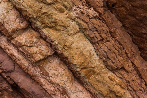 Texture de pierre de couleurs rouge et marron. fond