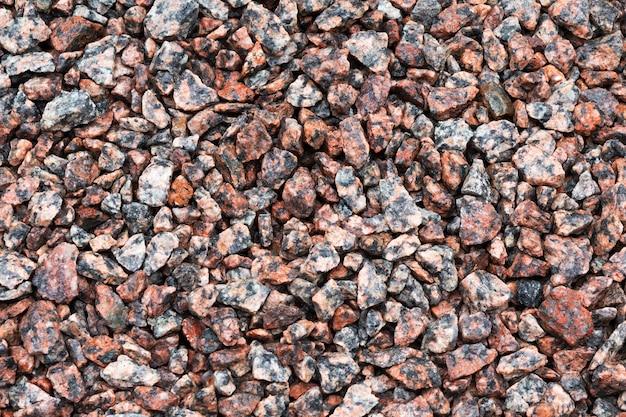 Texture de pierre. gravier concassé ou texture