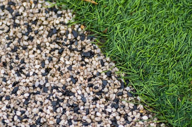 Texture de pierre et d'herbe