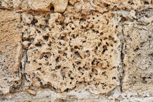 La texture de la pierre avec laquelle les murs étaient bordés palace
