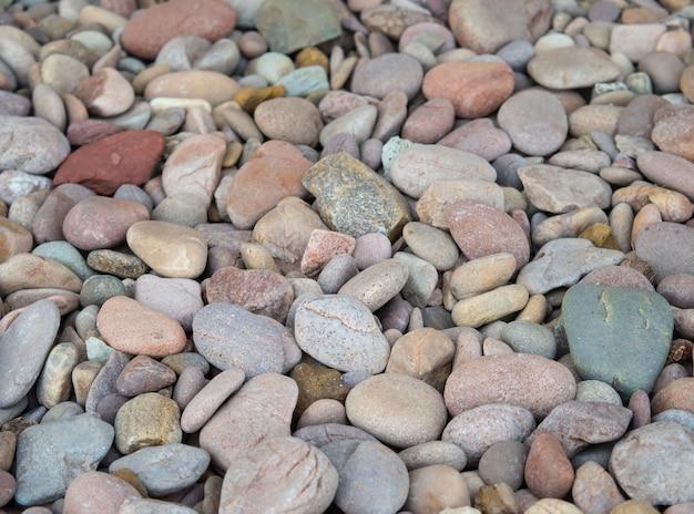Texture de pierres de galets colorés