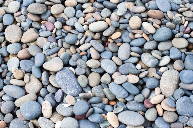 Texture des pierres sur la plage