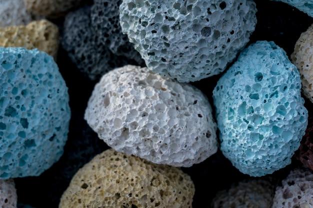 Texture de pierres ponces colorées pour les soins des pieds