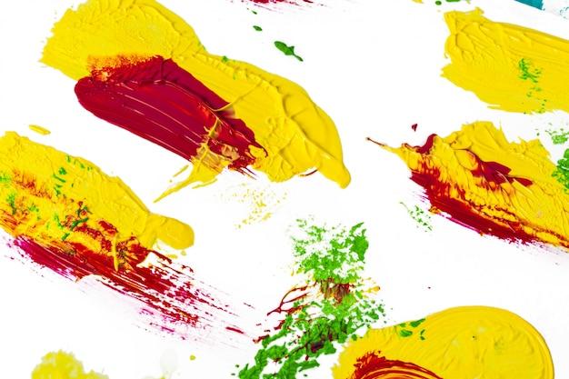 Texture de pinceau isolé sur blanc