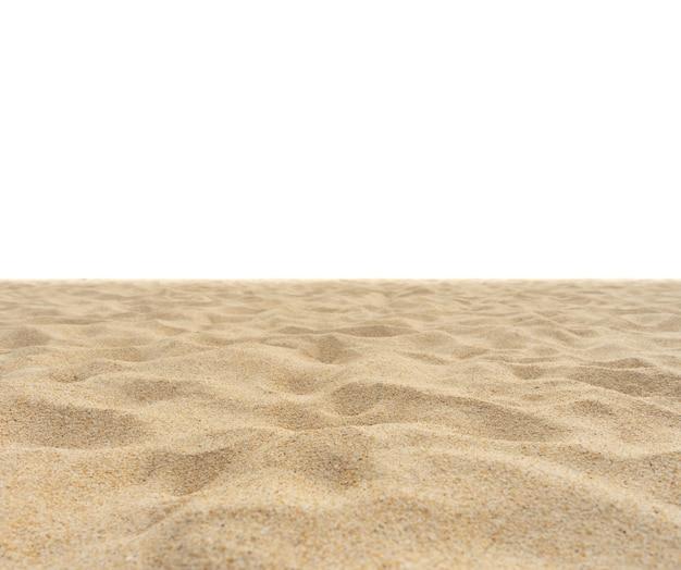 Texture de plage de sable de nature au soleil d'été isolé sur la texture de sable blanc dans la nature nature et voyage