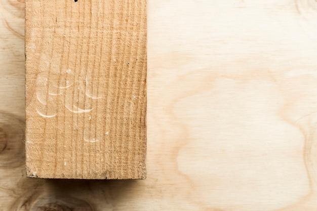 Texture de planche de bois et espace de copie