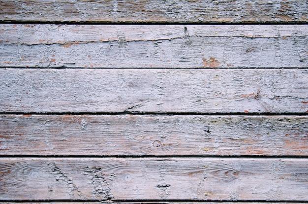 Texture de planche de bois peinte chic minable bleue et verte, vue de face