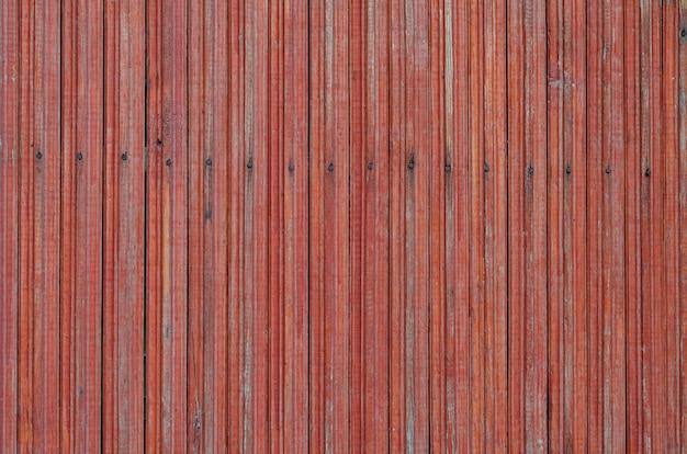Texture de planche de bois peinte rouge patiné fissuré