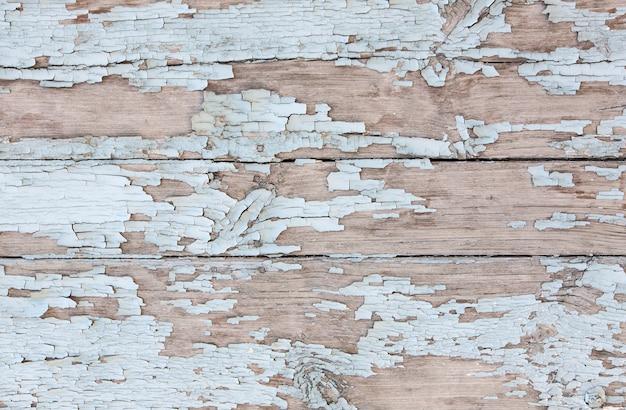 La texture des planches de bois peintes