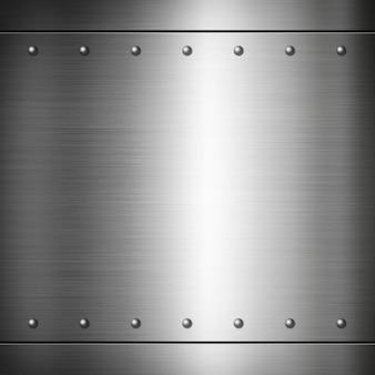 Texture de plaque brossé riveté en acier