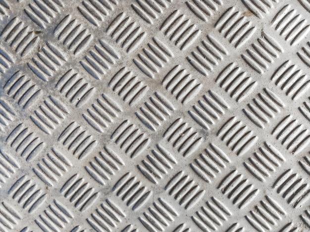 Texture de plaque métallique en diamant