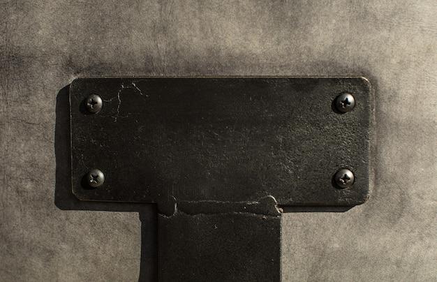 Texture de plaque vide vide en acier