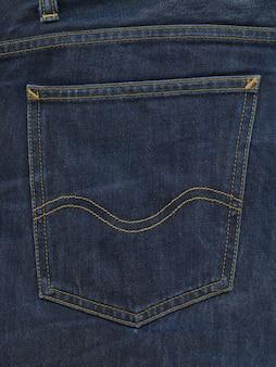 Texture de poche de pantalon en jean bleu