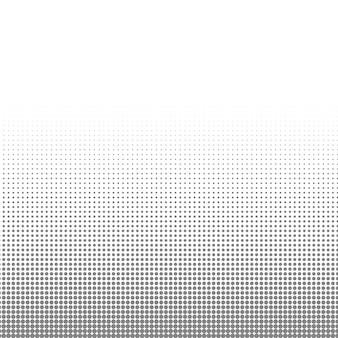 Texture de points de demi-teinte cercle noir et blanc